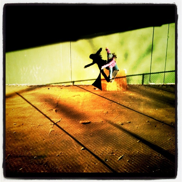 Skateboarder at Bridgespot Skatepark